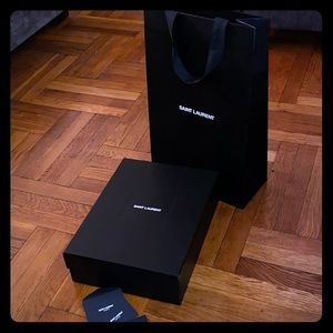 Saint Laurent collectible shoe box and bag